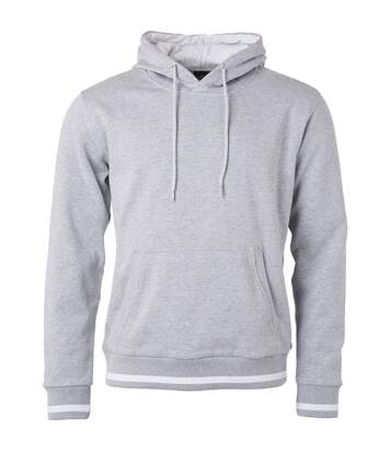 Sweat shirt à capuche homme - JN778 - gris chiné