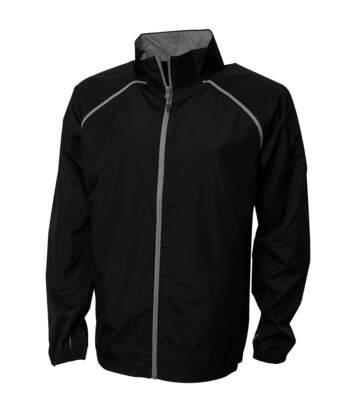 Elevate Mens Egmont Packable Jacket (Solid Black) - UTPF1862