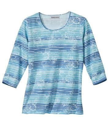 Tee-Shirt Imprimé Aquatique