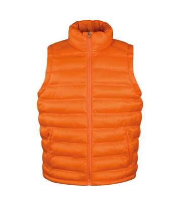 Doudoune anorak sans manches bodywarmer HOMME - R193M - orange