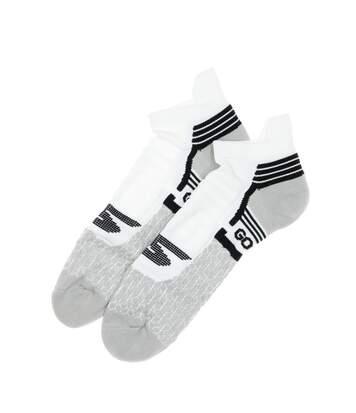 Chaussettes de running blanc/gris homme Skechers