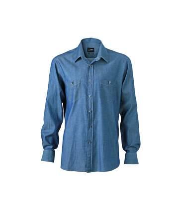 chemise manches longues jean Denim HOMME JN629 - bleu clair