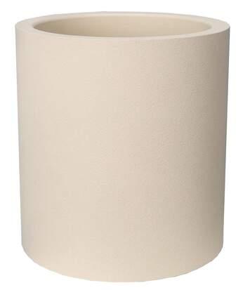 Pot en plastique rond aspect granit 40 cm