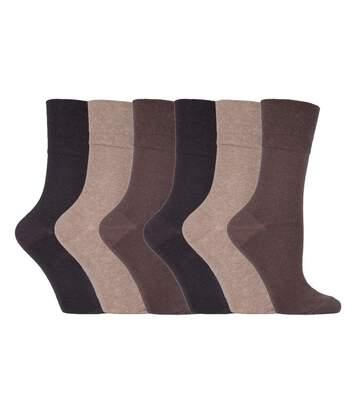 Ladies 6 Pk Non Elastic Diabetic Socks