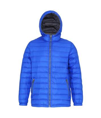 2786 Mens Hooded Water & Wind Resistant Padded Jacket (Royal/Grey) - UTRW3424