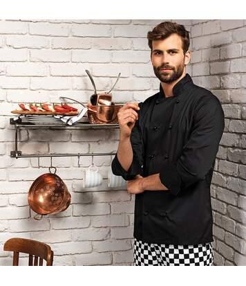 Premier Unisex Cuisine Long Sleeve Chefs Jacket (Pack of 2) (White) - UTRW6832