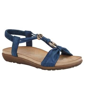 Cipriata Womens/Ladies Zana Sandals (Blue Shimmer) - UTDF1916