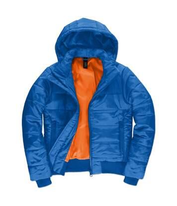 Doudoune à capuche amovible pour femme - JW941 - Bleu roi