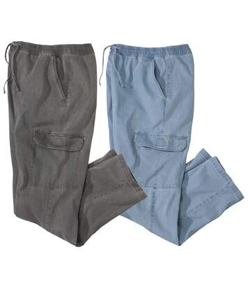 Pack of 2 Men's Jeans - Blue Grey