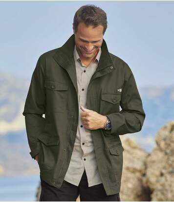 Men's Full Zip Khaki Adventurer Safari Jacket