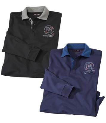 2er-Pack Poloshirts Kanada aus Jersey