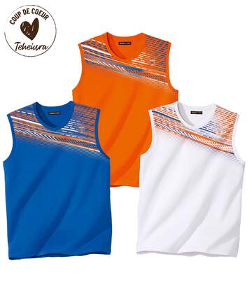 Lot de 3 Tee-Shirts Sans Manches Sport