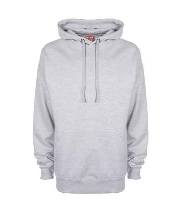 FDM Unisex Plain Original Hooded Sweatshirt / Hoodie (300 GSM) (Heather Grey) - UTBC2024