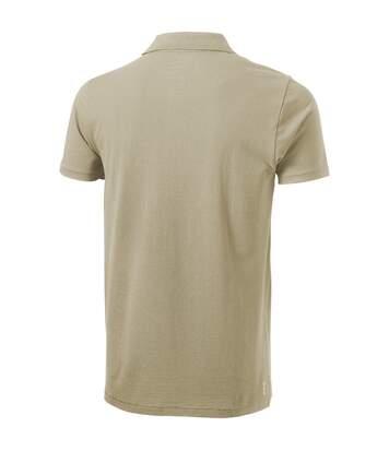 Elevate Mens Seller Short Sleeve Polo (Khaki) - UTPF1825