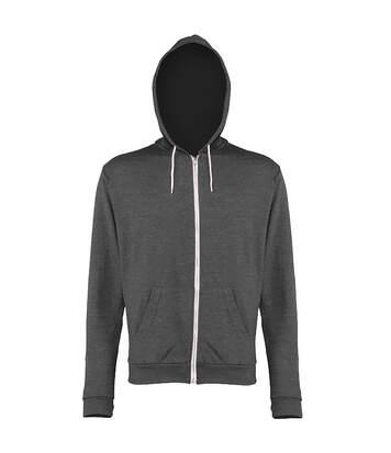 Awdis Mens Heather Lightweight Hooded Sweatshirt / Hoodie / Zoodie (Grey Heather) - UTRW184