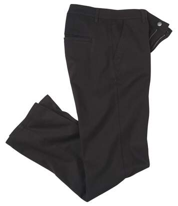 Men's Black Stretch Chinos