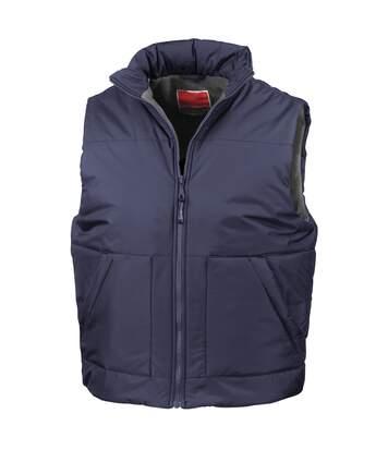 Result Fleece Lined Bodywarmer Water Repellent Windproof Jacket (Navy Blue) - UTBC926