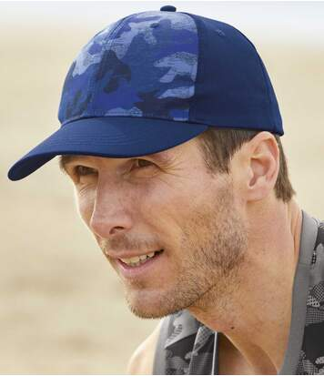 Men's Blue Camouflage Cap
