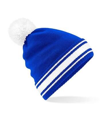 Bonnet stadium - Adulte - B472 - bleu roi et blanc