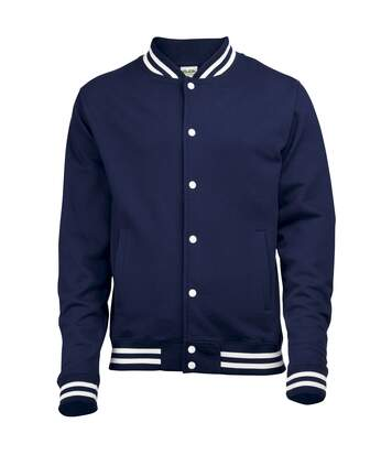 Awdis Adults Unisex College Varsity Jacket (Oxford Navy) - UTRW174