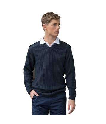 PRO RTX Mens Pro Acrylic Security V Neck Sweater (Navy) - UTPC3624