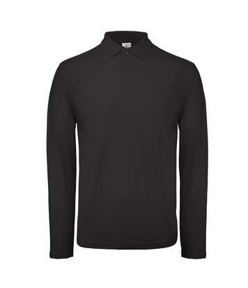 B&C ID.001 Mens Long Sleeve Polo (Jet Black) - UTBC3942