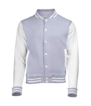 Awdis Unisex Varsity Jacket (Heather Grey / White) - UTRW175