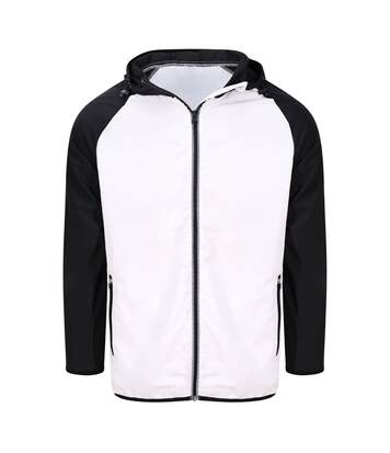 AWDis Just Cool Mens Contrast Windshield Jacket (Arctic White/Jet Black) - UTPC3581