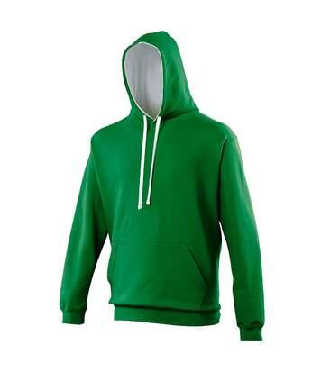 Awdis - Sweatshirt Varsity - Homme (Vert/ Blanc arctique) - UTRW165