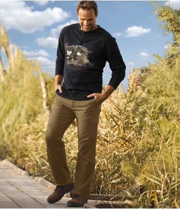 Men's Camel All-Terrain Cargo Trousers - Canvas