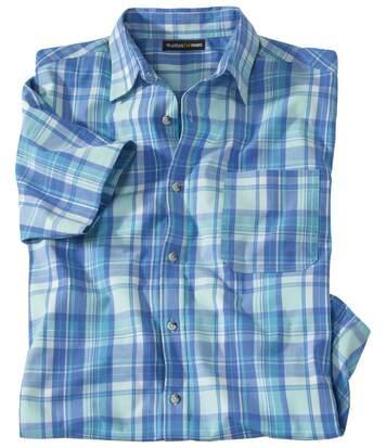Koszula w kratę  ze stretchem Blue Line