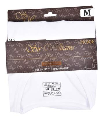 T shirt homme THERMO Doublé Polaire THERMO Blanc Col Rond