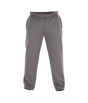Duke Mens Kingsize Albert Open Hem Jogging Bottoms (Grey) - UTDC134