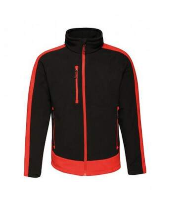Regatta Mens Contrast 300 Fleece Jacket (Black/Classic Red) - UTPC3319