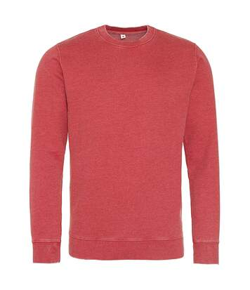 AWDis Hoods Mens Long Sleeve Washed Look Sweatshirt (Washed Sapphire Blue) - UTRW5369