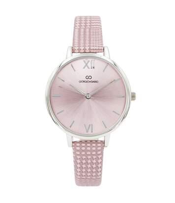 Montre Femme GIORGIO bracelet Cuir Rose