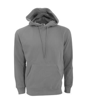 SG Mens Plain Hooded Sweatshirt Top / Hoodie (Grey) - UTBC1072