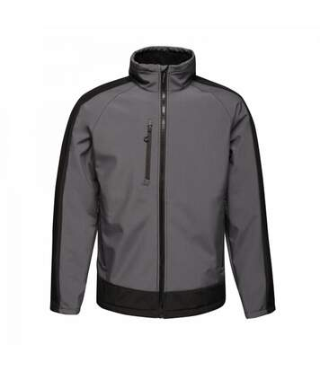 Regatta Mens Contrast 3 Layer Softshell Full Zip Jacket (Slate Grey/Signal Black) - UTRG3747