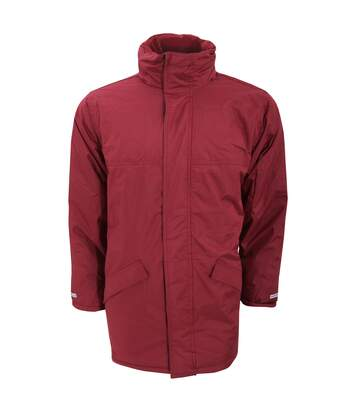 Result Mens Core Winter Parka Waterproof Windproof Jacket (Burgundy) - UTBC901