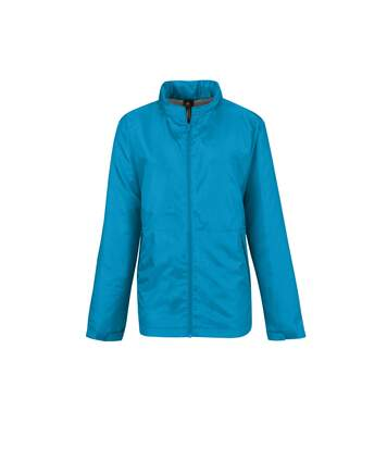 B&C Womens/Ladies Multi Active Hooded Jacket (Atoll/ Warm Grey) - UTRW4824