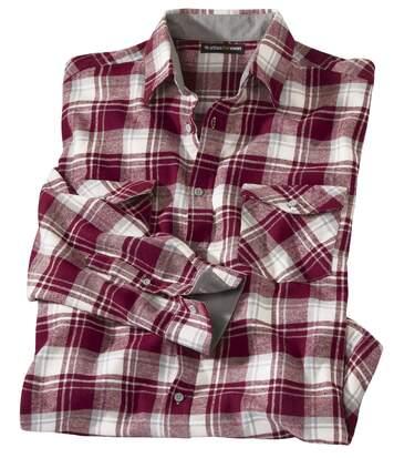Flanelowa koszula w kratę w stylu drwala