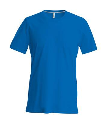 Kariban Mens Slim Fit Short Sleeve Crew Neck T-Shirt (Royal Blue) - UTRW706