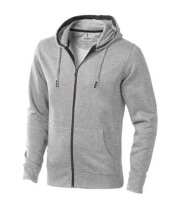Elevate Mens Arora Hooded Full Zip Sweater (Grey Melange) - UTPF1850