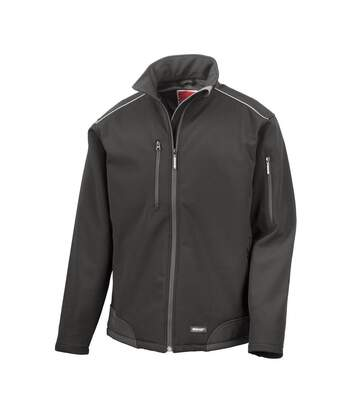 Result Mens Ripstop Soft Shell Breathable Jacket (Black/Black) - UTBC860