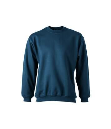 Sweat-shirt col rond - JN040 - bleu pétrole - mixte homme femme