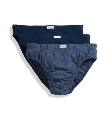 Lot 3 slips Homme - coton - bleu - trio Pack 67-012-6