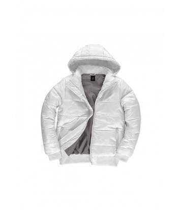 Doudoune à capuche amovible pour homme - JM940 - Blanc