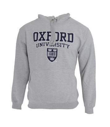 Mens Oxford University Print Hooded Sweatshirt Jumper/Hoodie Top (Grey) - UTF165