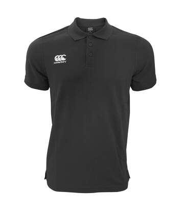 Canterbury Mens Waimak Short Sleeve Pique Polo Shirt (Black) - UTPC2463