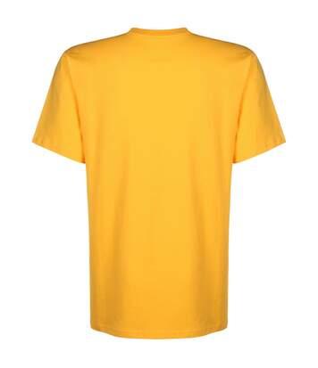 T Shirt jaune Homme Converse Left Chest